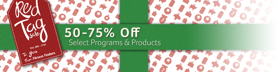 Take 50-75% off programs and products, December 8-21