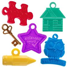 Classroom bundle for behavior. Puzzle piece, homework house, key, attendance star, owl-standing and pencil.
