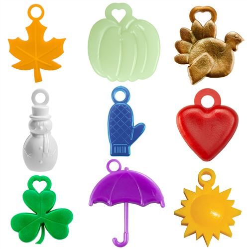 9 awards for months September through May. 25 each of Apple, Pumpkin, Tom Turkey, Snowman, Mitten, Valentine, Shamrock, Raindrop and Sun.