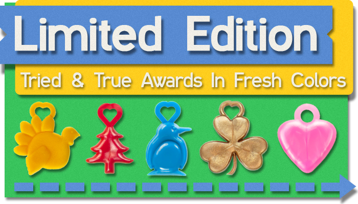 Popular student awards in unique colors.