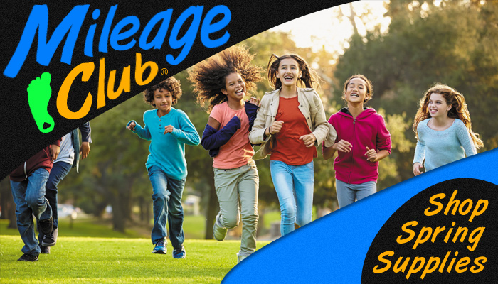 It's Mileage Club Time! Stock up on all your run club supplies. Awards, kits, program materials and run club tools.