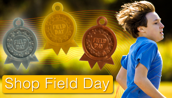 Looking for Field Day awards? We've got awards that your students are sure to love. From ribbon tokens to little runners, we've got it all.