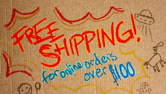 Now every online order $100 or greater will ship for free in the United States.
