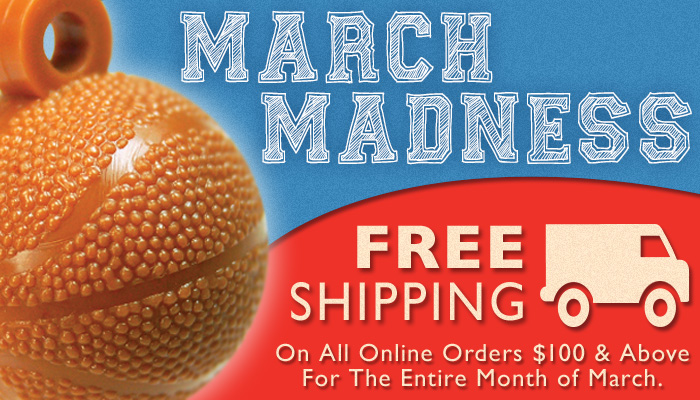 It's March Madness time! Get free shipping on all orders $100 and above for the entire month of March. Coupon code not necessary.