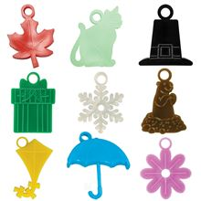 9 months of monthly-themed motivational awards: leaf, glow cat, pilgrim's hat, gift box, snowflake, groundhog, umbrella and flower.